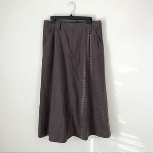 Chadwick's Real Comfort Brown Suede Skirt